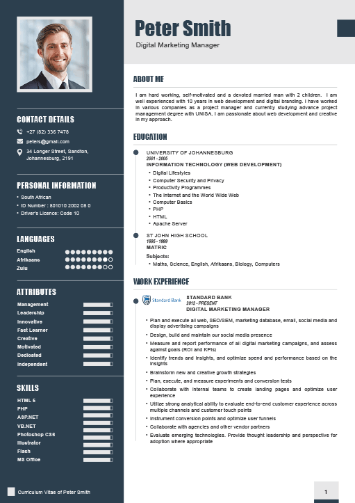 how to compile an executive cv - 2018